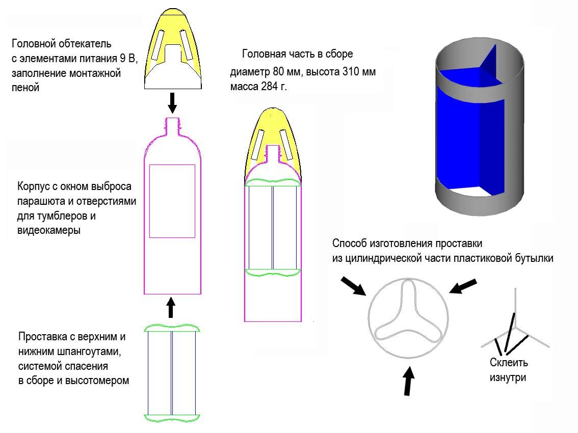 Летающая ракета своими руками из бутылок