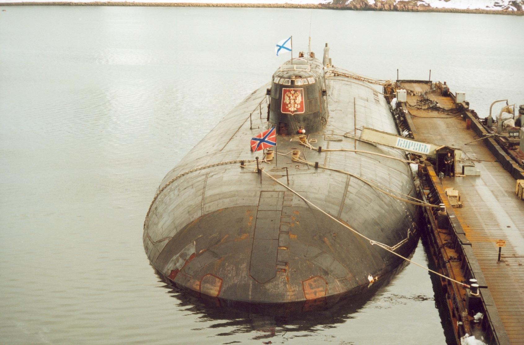 поднятие подводная лодка курск
