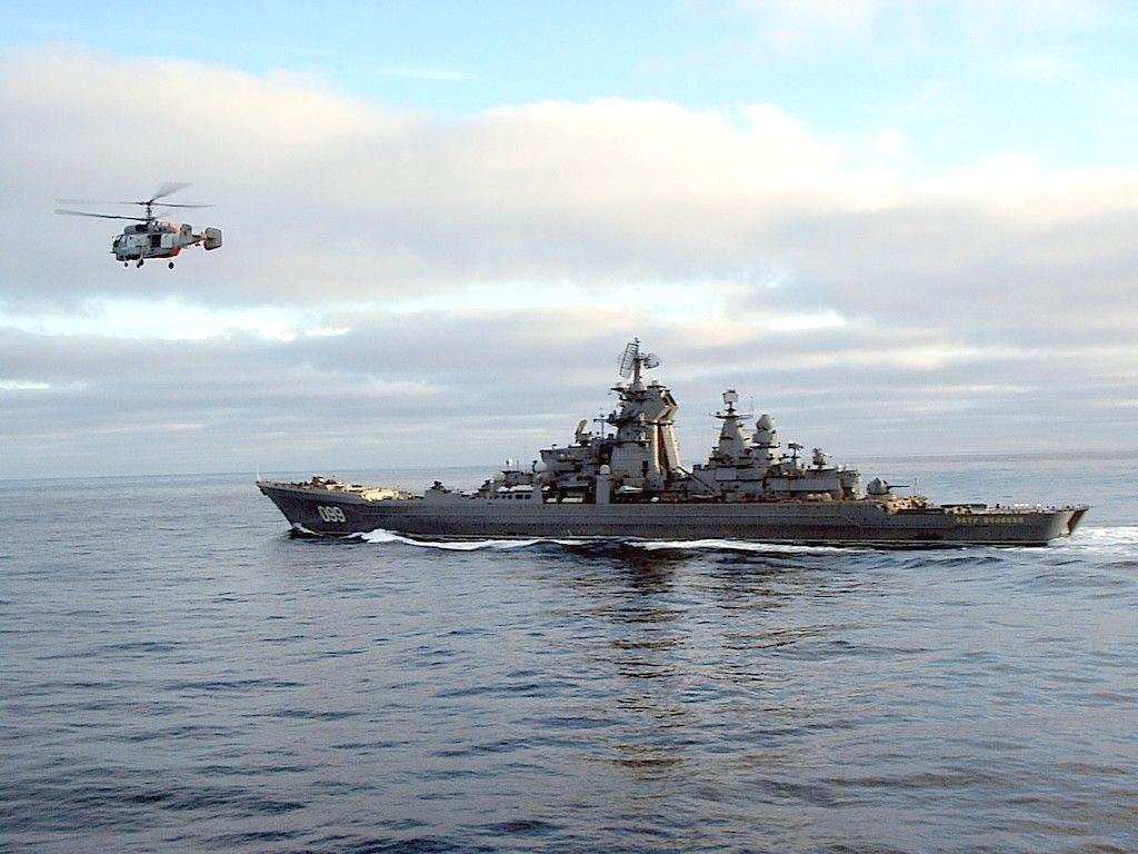 RFS Pyotr Velikiy (TAPK 099) at side of Admiral Kuznetzov.jpg