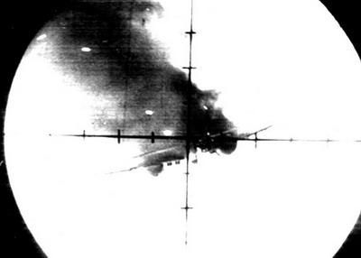 Так горел Первый сбитый летчиком Юхимовичем  (29 ИАП) - 1941 г..jpg