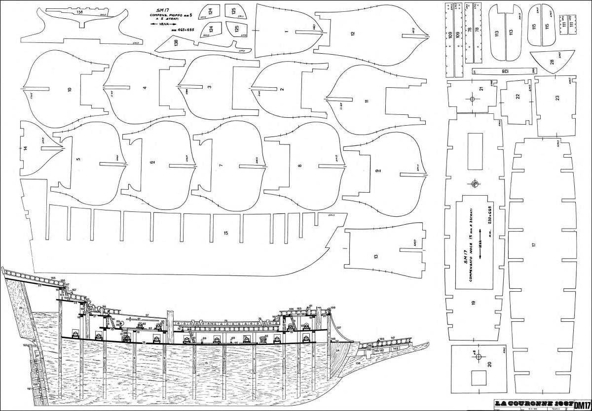 Чертежи корабля из дерева 70