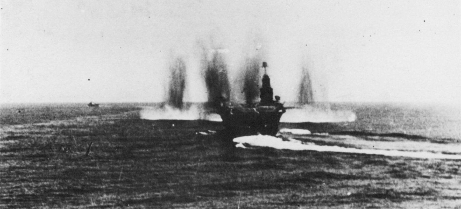 Ark Royal under bombs off Norway 1.5.40.JPG