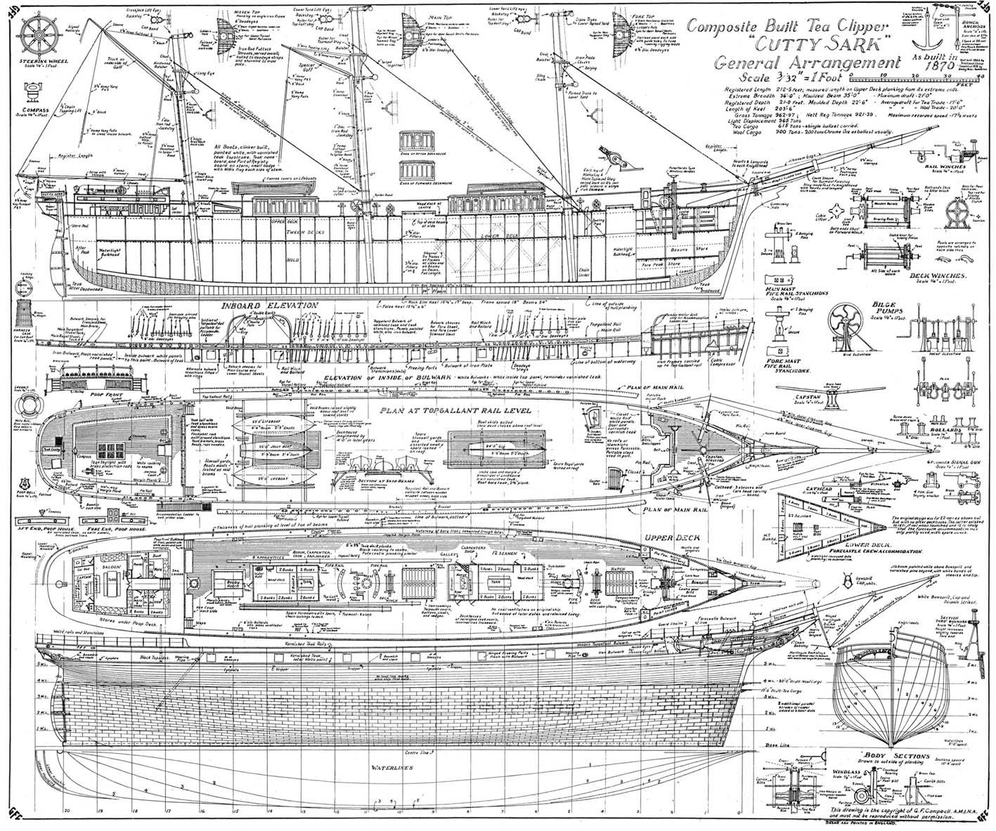 Чертеж парусника голден стар модель корабля голден стар
