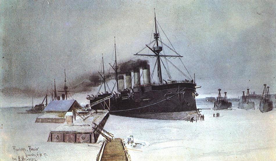 Изенберг К_Крейсер 'Россия' 6 марта 1897 года..jpg