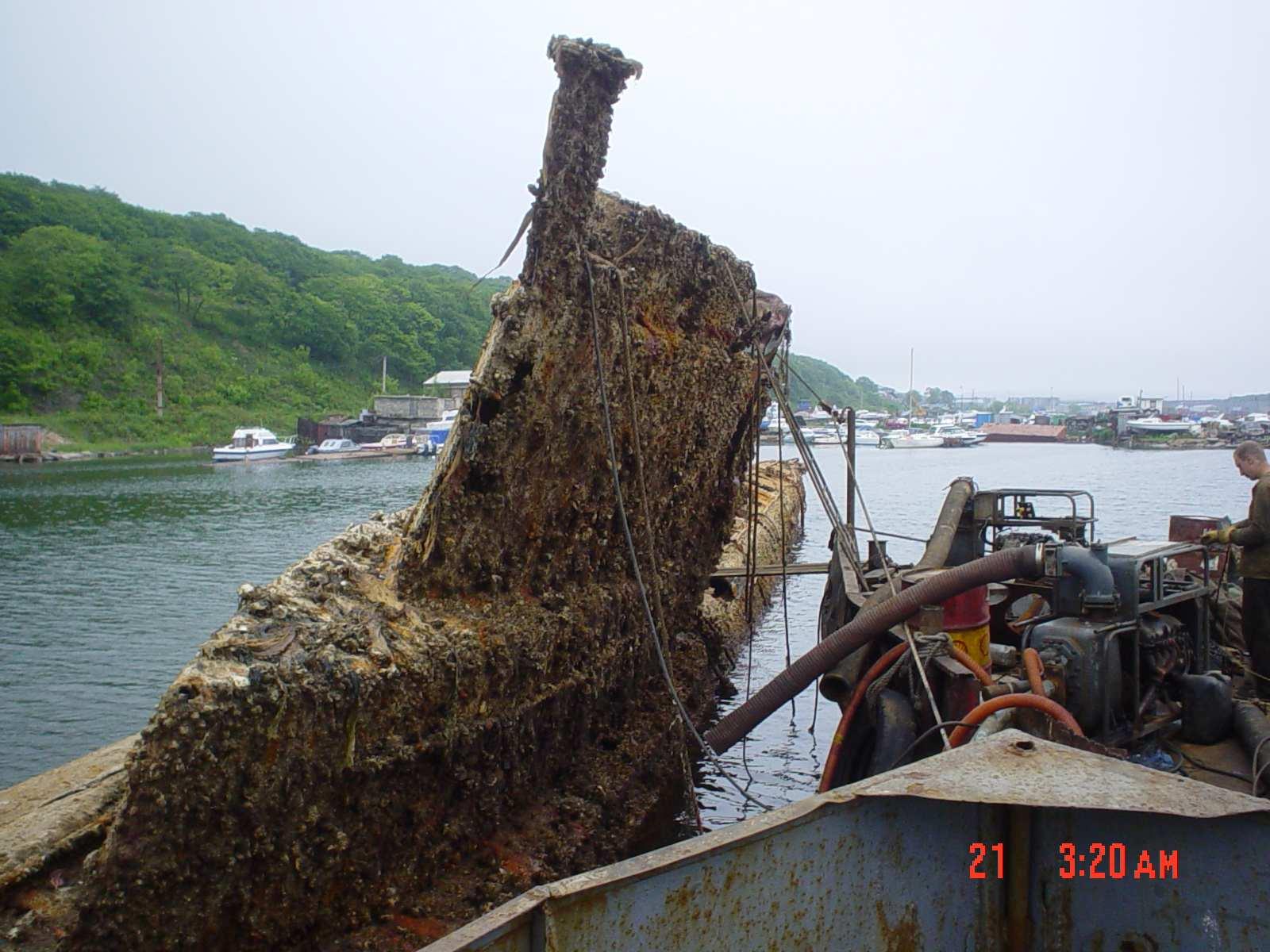 утонувшая подводная лодка во владивостоке