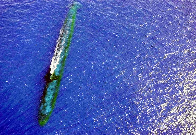 вид через перископа подводной лодки