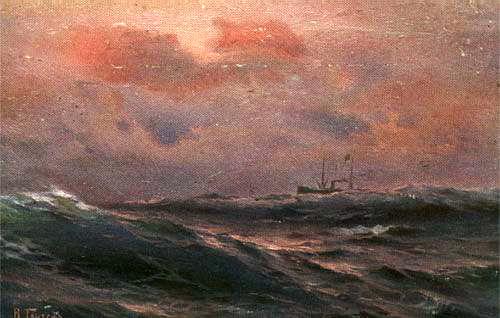 Ганзен Алексей Васильевич (1876 - 1937)_В океане вечером.jpg