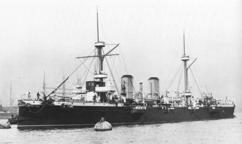 25 de Mayo at buoys in Tyne summer 1891.JPG