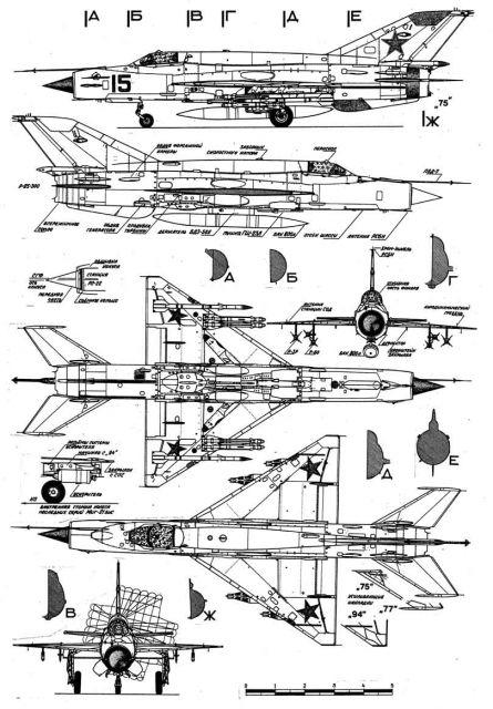Ищу чертежи крыла МиГ-21 (или