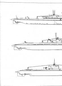 подводная лодка форель чертеж