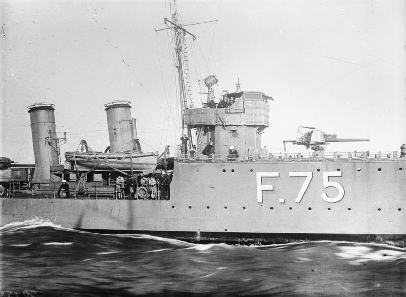 The bridge and forward 4-inch gun of the destroyer HMS TORRID.jpg