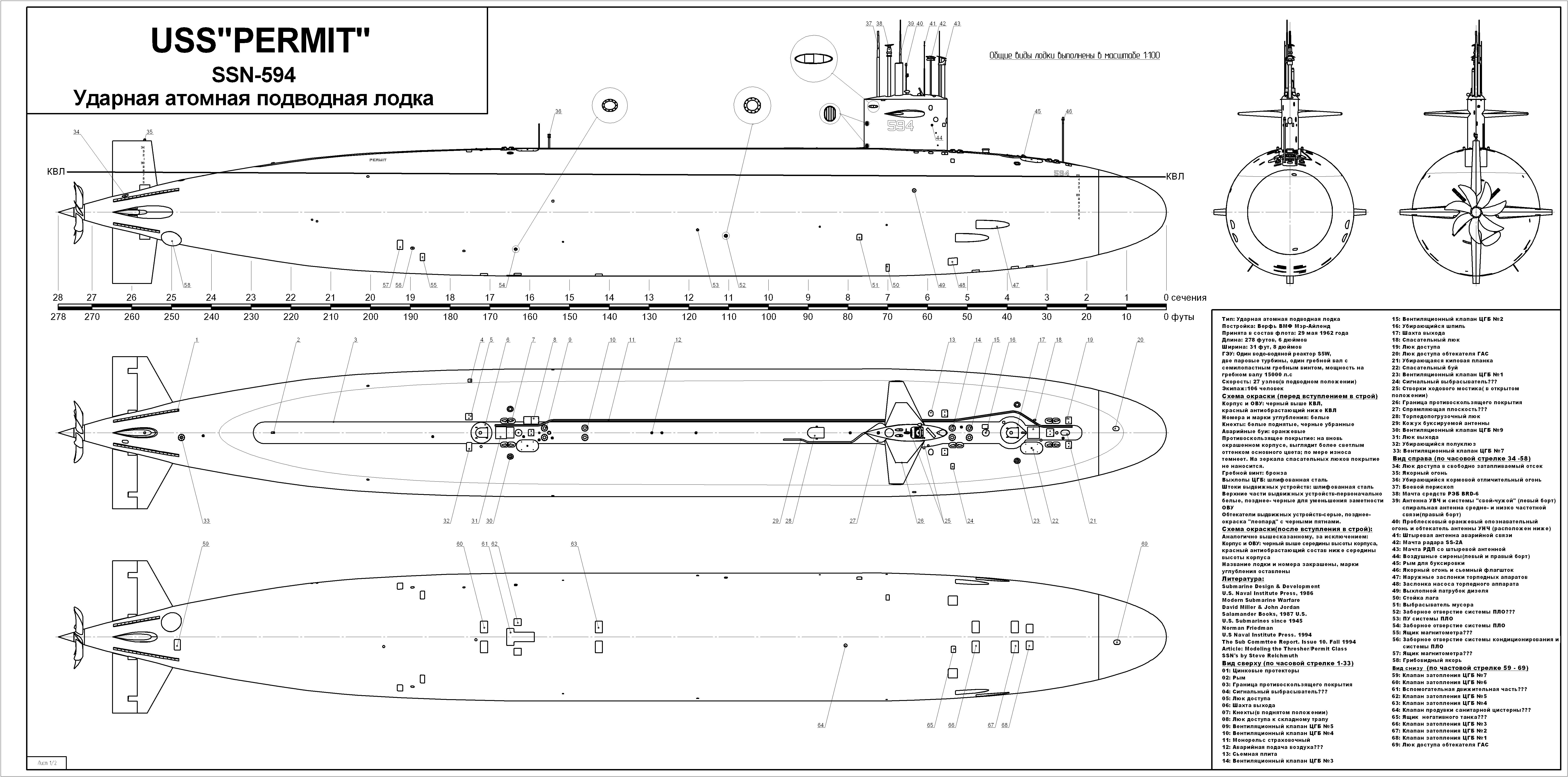 чертежи подводных атомных лодок