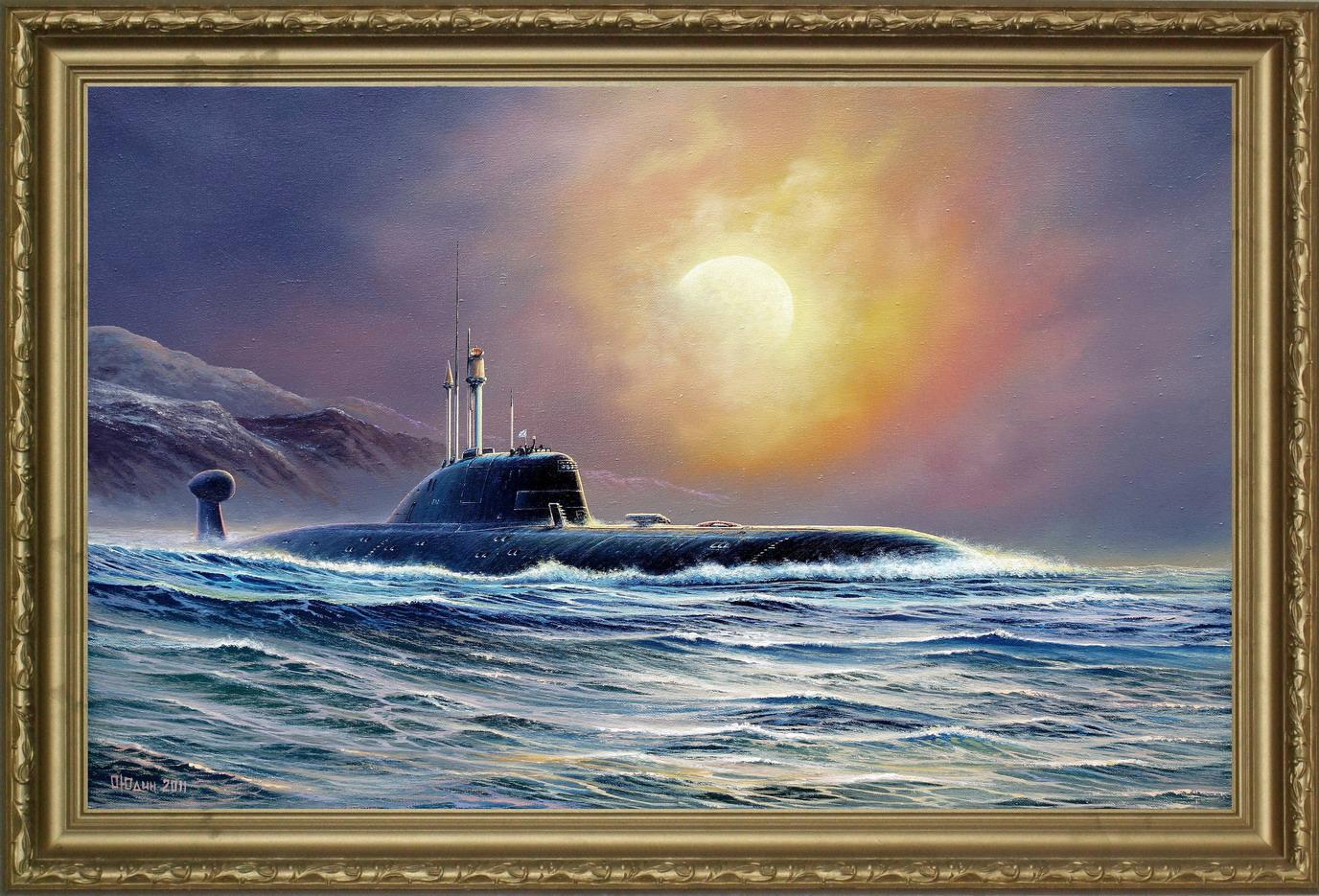 постер с подводной лодкой